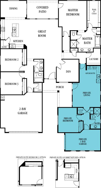 Evolution - Home Within a Home New Home Plan in Estates at