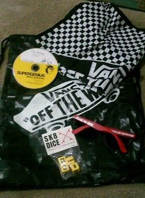 Vans Promo black Checks Checkerboard Bandana Drawstring Bag Lot sk8 dice glasses