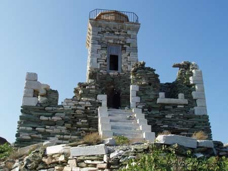 Lighthouse Panormos in Tinos Island Greece