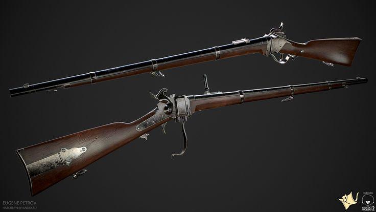 ArtStation - Sharps 1859 rifle, Eugene Petrov