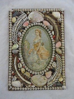 Lot 410 Antique Victorian Sailor's Valentine w Portrait of Woman Book Cover | eBay