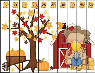 Freebie!  Turkey (Number Sequencing) Puzzles: 1's; skip counting by 2's; 5's; and 10's