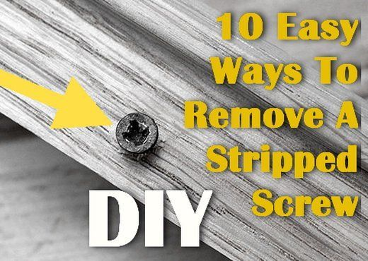 how to remove a stripped screw