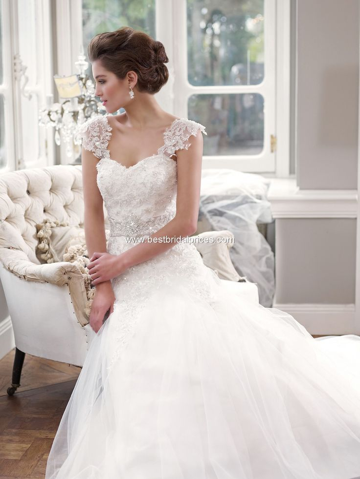 Mia Solano Wedding Dresses - Style M1305L- really pretty, sleeves, and lace, and tulle!