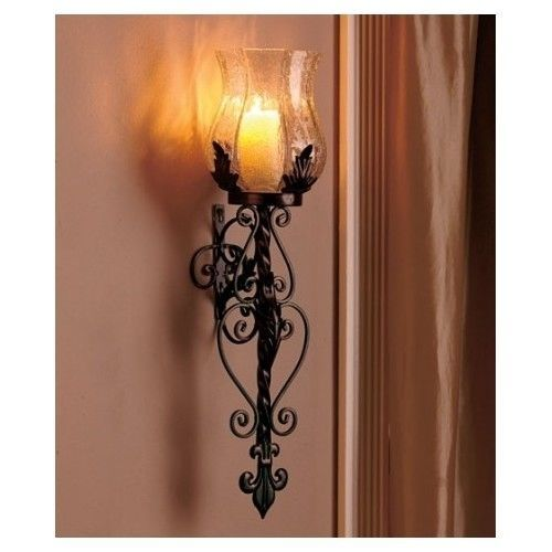 Wall Sconce Vintage Light Metal Class Candle Sconces Art Lamp Fixture Cast Deco in Home & Garden ...