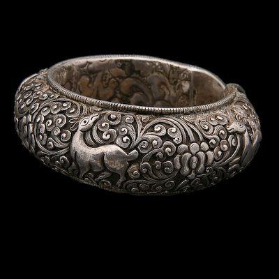 Katmandu. Nepal | Silver Bangle | Circa Early 20th Century