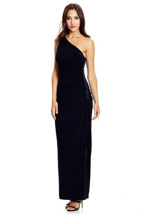 CACHET One-Shoulder Gown with Side Detail