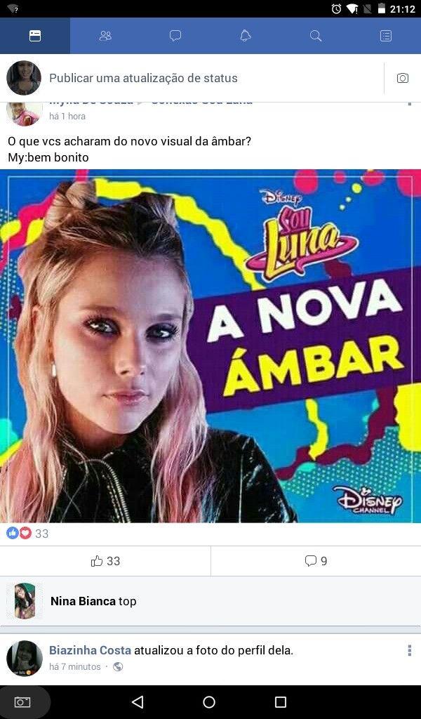 Pin De Mary Oliveira Em Sou Luna Foto Do Perfil Novos Visuais