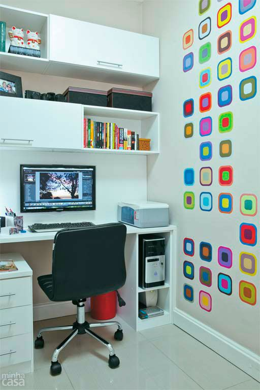 Locais de trabalho em casa merecem a TV instalando em um Suporte #suportefixo #elg #suporte