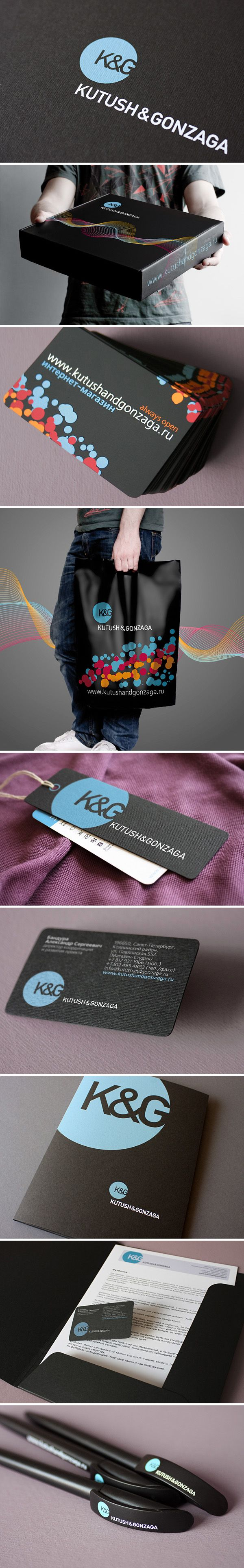 Logo and Brand Identity K&G Store. Логотип и фирменный стиль студии молодежной одежды Kutush & Gonzaga