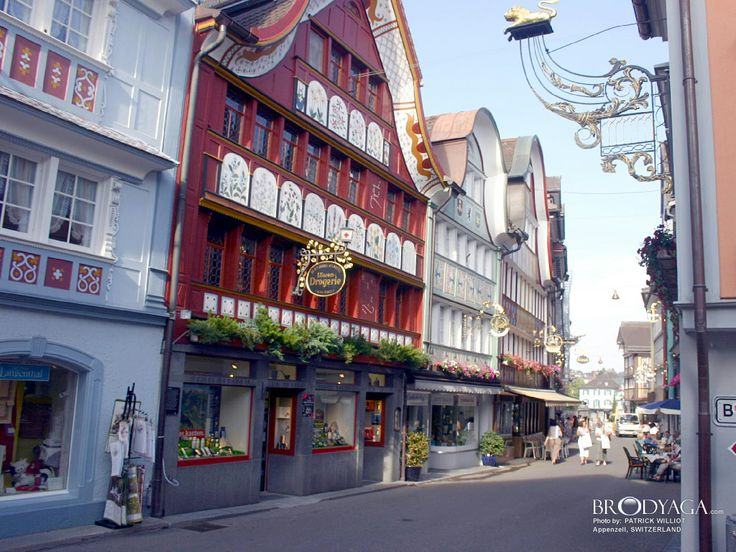 Appenzell, Switzerland. One of the most picturesque places in the world.