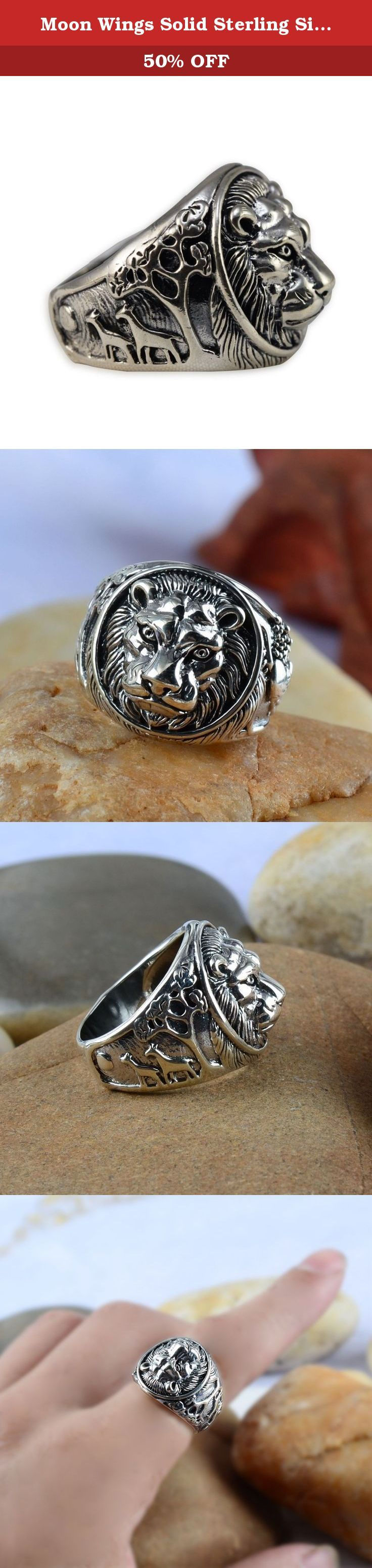 Moon Wings Solid Sterling Silver Lion Vintage Mens Ring Size 10. Product specifications Weight: approx. 14 g (solid sterling silver); Ring Size: 10 (US Ring Size); Ring Surface: 1.8cm Material 100% international standard S925 sterling silver. Sterling silver refers to 92.5% silver content. Due to additional content, S925 is resistant to deformation not easy deformation. And the hardness of the S925 sterling silver is also greatly enhanced. Our sterling silver jewelry has unique texture…