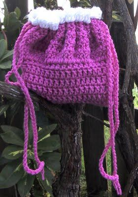 BeadedSocks by Daisy Designs: Crocheted Bassinet / Cradle Purses