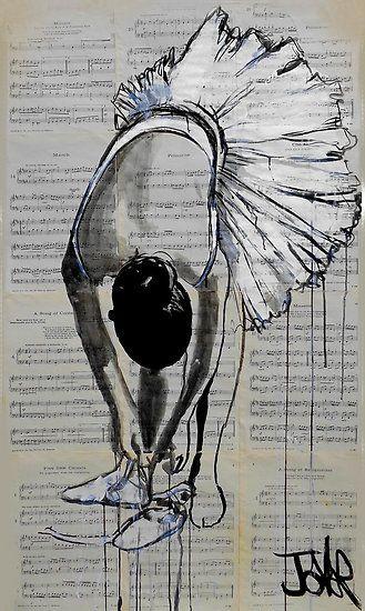 danseuse de ballet by Loui  Jover