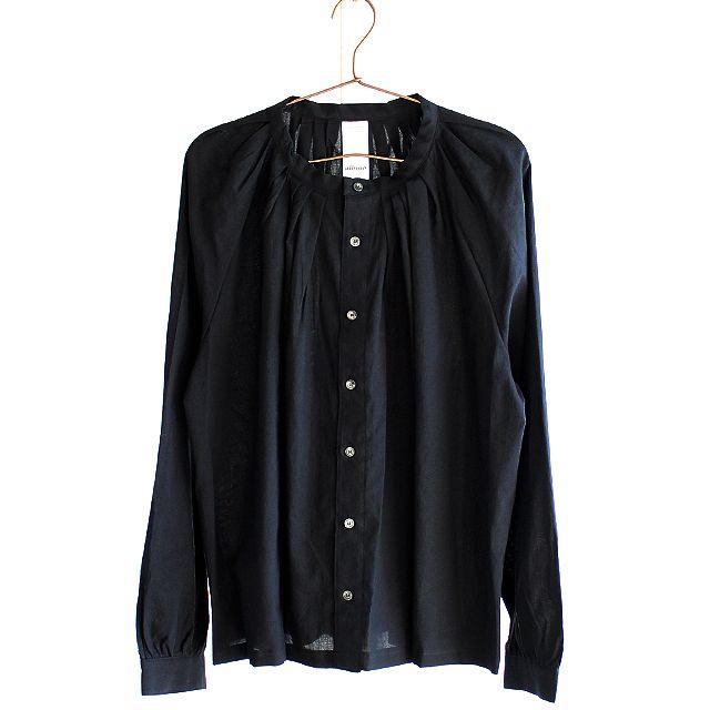 プリーツネック×ギャザーカフ加工バルーンシャツ | メンズスカートなどモード系ファッションの通販 albino