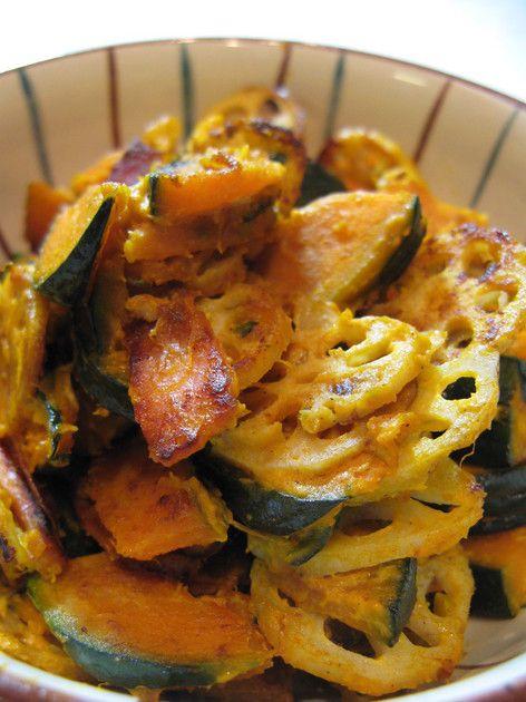 簡単おいしい♪かぼちゃとレンコンのサラダ by かにころ [クックパッド] 簡単おいしいみんなのレシピが220万品