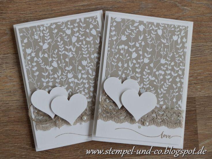 #Hochzeit #Karte #Valentinstag #SAB #Stampin´Up! # Designerpapier Trau Dich