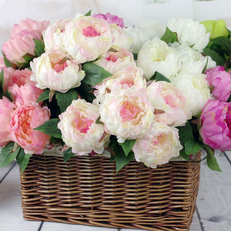 Купить товарВысокое качество шелк цветок европейский 1 букет искусственные цветы осенью яркий 5 голов пион поддельные листьев свадьба главная ну вечеринку украшения в категории Декоративные цветы и венкина AliExpress.                                                                    &nbsp