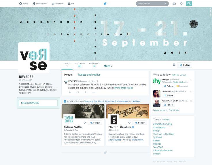 """En vigtig del af kommunikationstrategien er en synlig tilstedeværelse på Twitter både før, under og efter festivalen. For eksempel kan der eksperimenteres med """"twitter-poesi""""."""