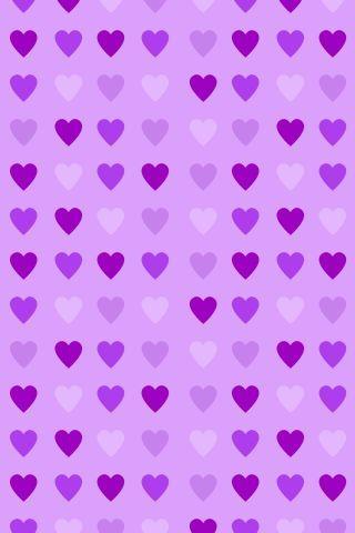 Fundo de corações roxos -Minus