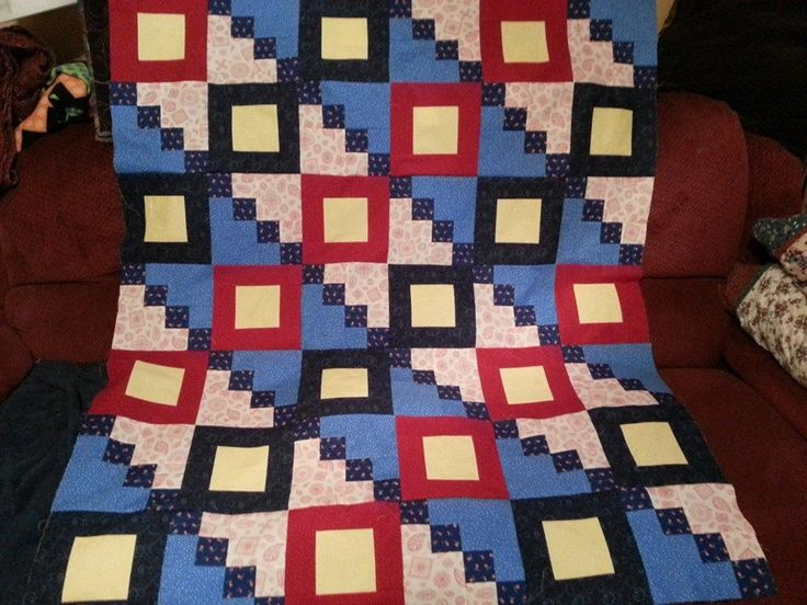 """Merry Mayhem's Mystery Quilt Case #137 """"We Salute You""""......pieced today 7/19/14"""