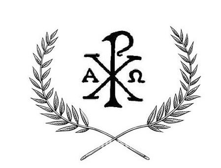 Chi-Rho with olive branches