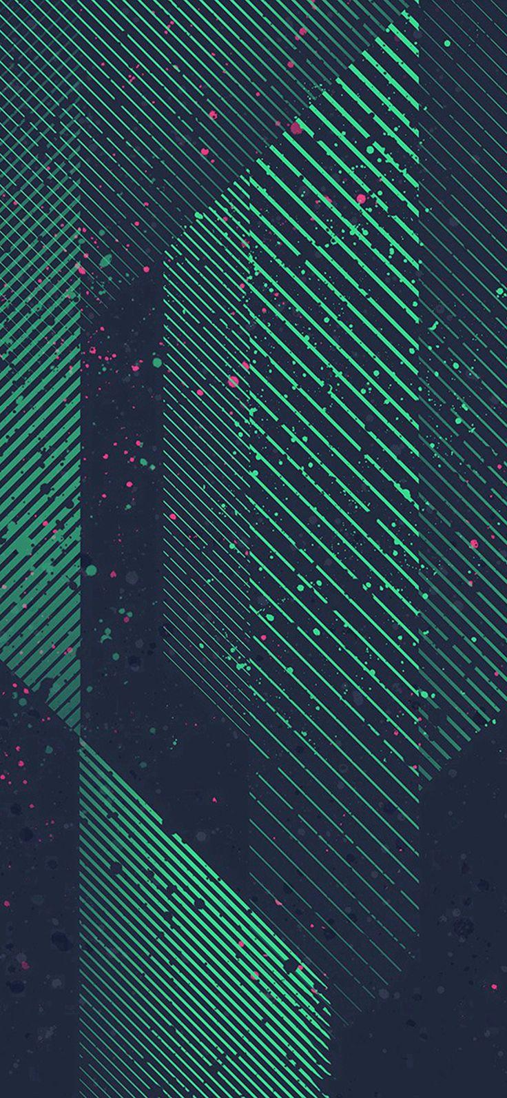 Htc Art Design Dot Paint Pattern Green #iPhone #X #wallpaper