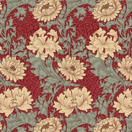 Red Chrysanthemum By The Original Morris & Co.