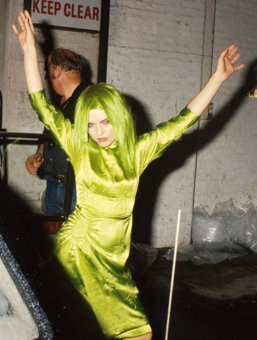 Debbie Harry matching hair and dress