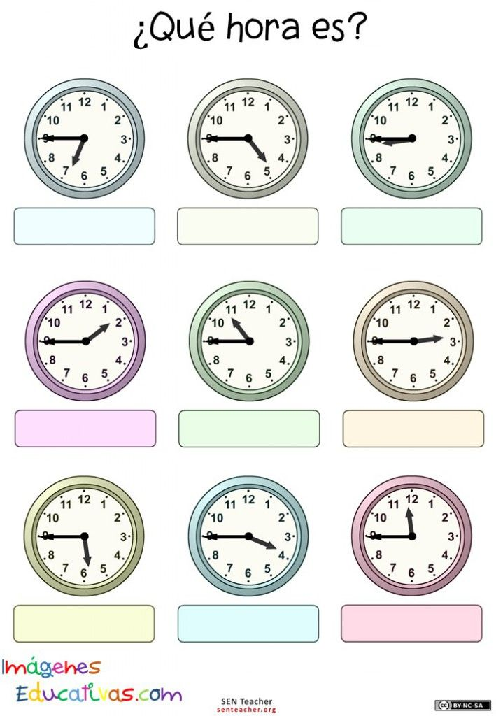 34 besten El reloj y las horas Bilder auf Pinterest | Grundschule ...
