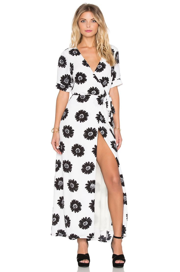 Johnny was long sleeve eyelet tunic in pink blush save 63 lyst - Lucca Couture Short Sleeve Wrap Maxi Dress In Off White Black