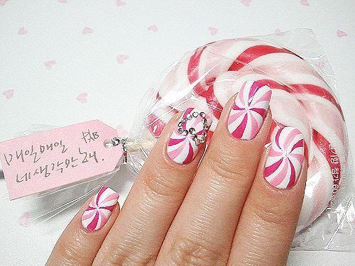 Dimonds Nails : Fabulous Pink Diamond Nail Art