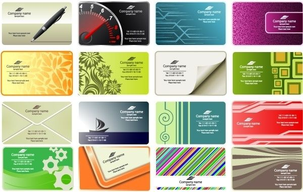 Free Business Card Templates Vectores Free