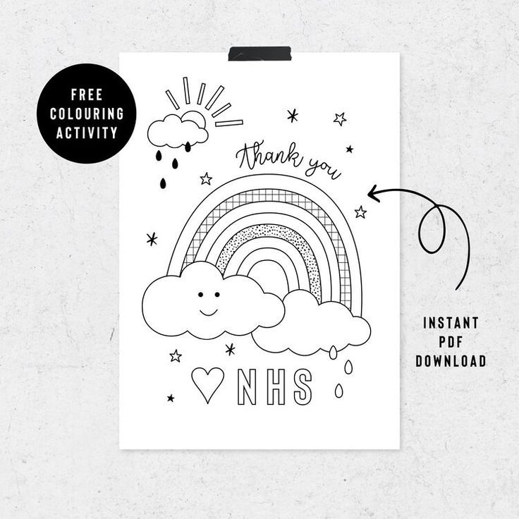 Rainbow Nhs Coloring Collection