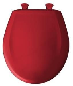 Red toilet seat! Awesome!