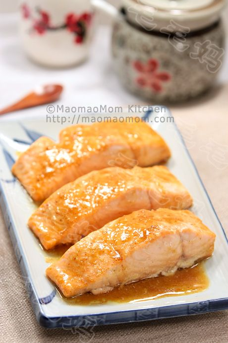 【Maple Mustard Salmon 】  by MaomaoMom  An easy and wonderful salmon dish, you got to try it.