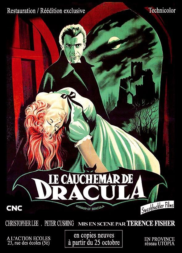 Horror of Dracula (1958) ~ another Hammer film (gorgeous French poster)