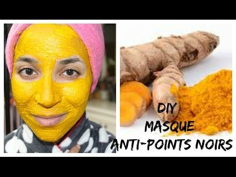 DIY : Masque Curcuma anti points noirs - YouTube