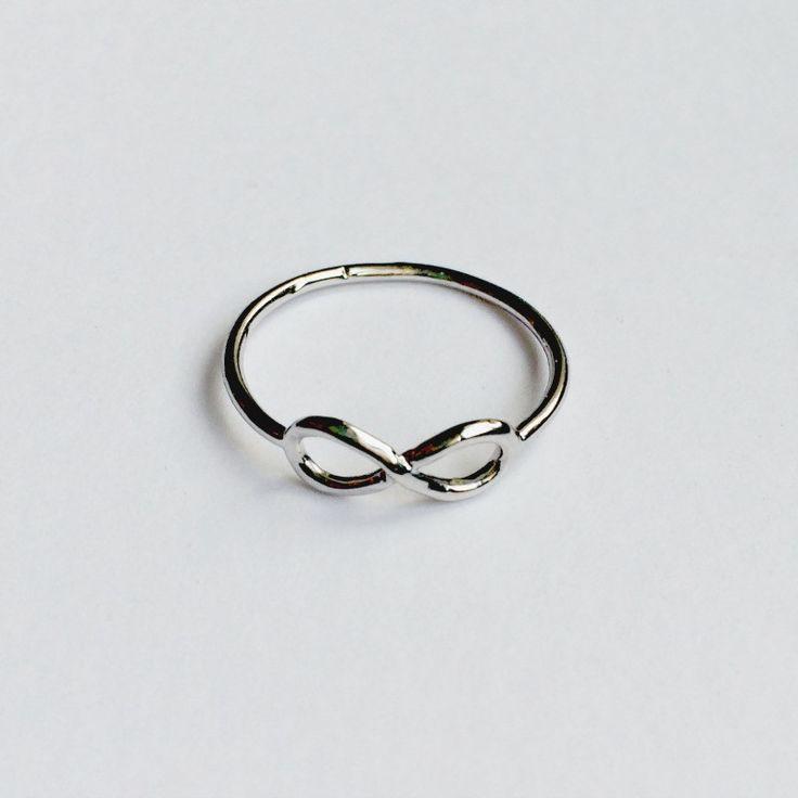 """Bague """"Infini"""" - Symbole d'éternité et d'amour... Bonne idée cadeau."""