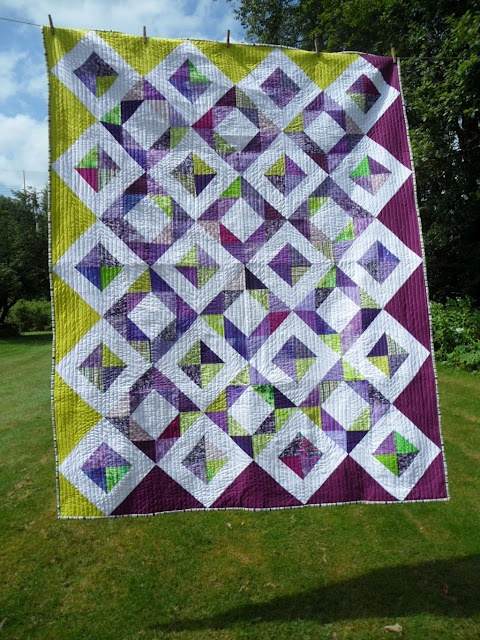 There are few things nicer than a quilt for a friend. Stunning straight line quilting with #Aurifil 50wt by Cathy at Blueberry Patch ( Gemstones block on Stitched In Color)  http://cathy-blueberrypatch.blogspot.com/2012/07/quilt-for-friend.html