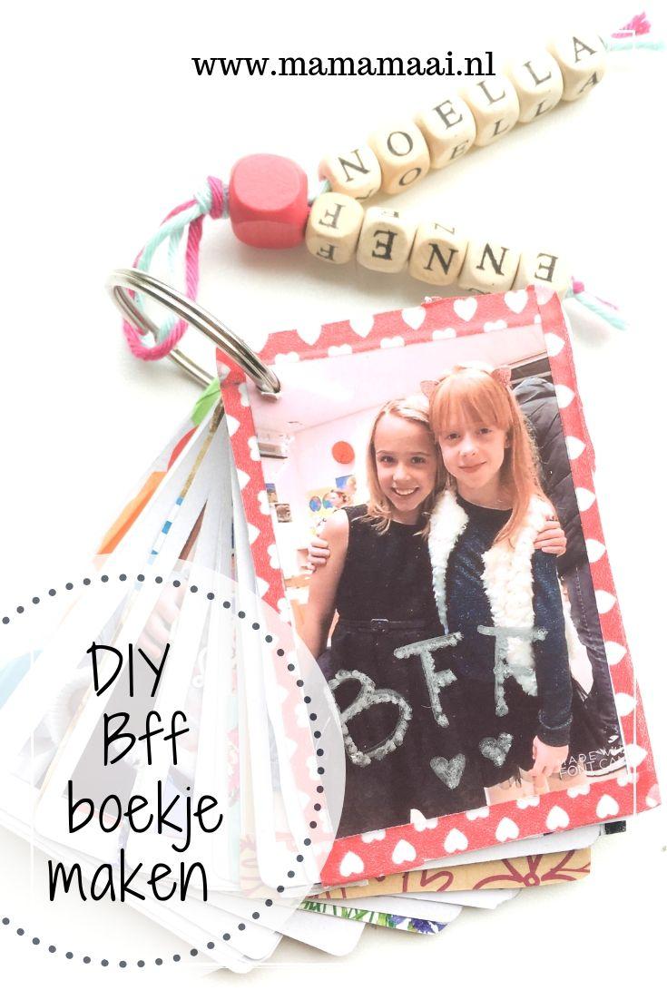 Ongebruikt DIY BFF boekje maken | Bff, Knutselen, Vriendschapskaarten UO-91