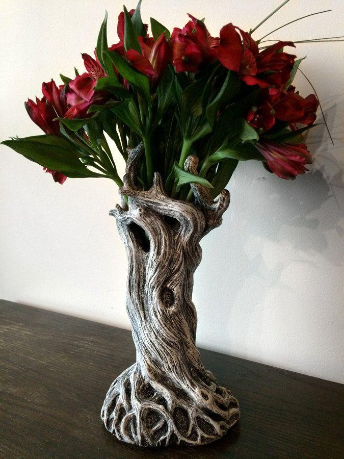 Tree Vase White Finish by Dellamorteco on Etsy                                                                                                                                                                                 More