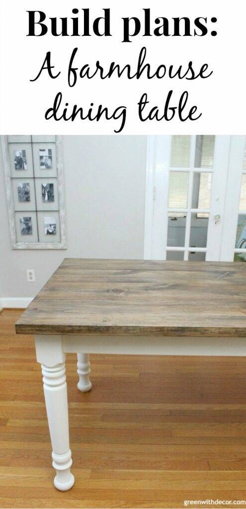 how to build a farmhouse dining table  green with decor