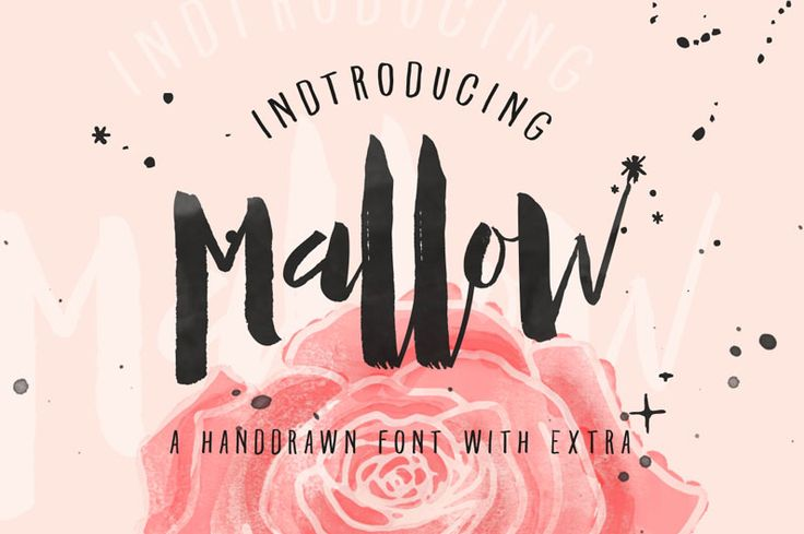 Mallow brush-script font