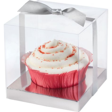Silver Cupcake Wedding Favor Box Kit - Party City