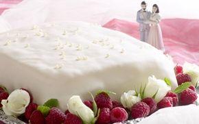 Nem bryllupskage med hindbær - Opskrifter - Arla