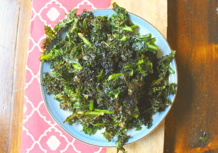 healthy baked kale chips
