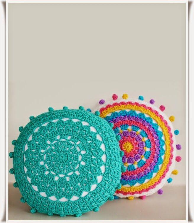 Tığ işi Mandala Motifli Yastık Modeli Resimli Anlatım 1