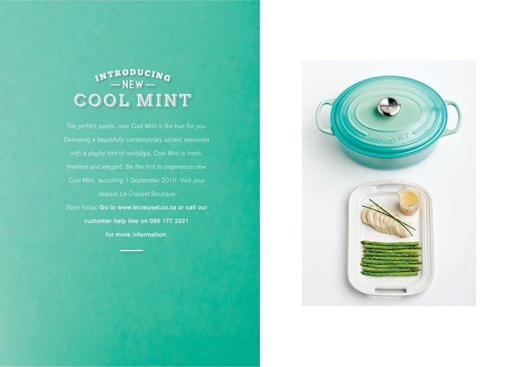 Le Creuset Cool Mint Launch Campaign #canvas #advertising #artdirection #shoot #lecreuset #coolmint #foodphotography