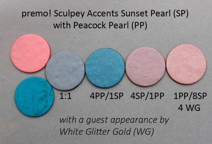 Premo! Color Recipes from Syndee Holt - Sunset Pearl and Peacock Pearl